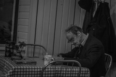 manReading (juiceSoup) Tags: krakow