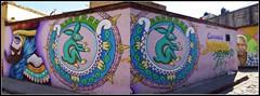 Chinelo y Tochtli (MaPeV) Tags: mxico graffiti pueblo dibujos tepoztlan morelos mgico