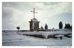 Snow and peace (UmbilicusSiciliae) Tags: life trees sky panorama plant color film nature architecture alberi landscape photography enna lomography italia foto with cross monumento seat faith religion centro natura center silence cielo neve di una sicily environment rest pace expired inverno architettura fede sicilia paesaggio croce snowed ambiente silenzio bordo 100iso paese 2016 analogical religione vuoto analogico sedile allaperto rullino scaduto alessandrofazzi mamiyaef2 pellicolaro pellicolakonicacenturia