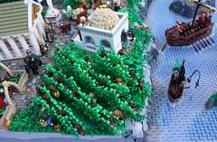 A Classical Greek Polis (vineyard) (Simon S.) Tags: city garden greek temple oracle vineyard ancient theater lego bricks troja homer polis sheperd moc herder trireme eurobricks