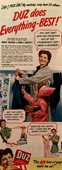 She Can Pick 'Em! (saltycotton) Tags: vintage magazine children ad daughter mother advertisement 1940s laundry clothesline washingmachine housewife 1944 clothespins detergent wringerwasher duz womanshomecompanion