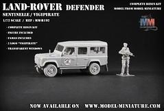 Land-Rover Defender (Vigipirate) (Model-Miniature / Military-Photo-Report) Tags: scale rover land landrover franais militaire 172 defender maquette modle sentinelle rduit vigipirate