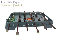 Lord of the Rings Tabletop Football (-Balbo-) Tags: football lego lotr creation lordoftherings hobbit der herr tabletop ringe moc tischfusball wuzzeltisch