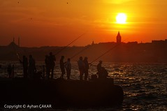 Sunset Bosphorus Istanbul and Fishermen (NATIONAL SUGRAPHIC) Tags: sunset fisherman cityscape seascapes fishermen ngc türkiye cityscapes sunsets istanbul urbanlife günbatımı turkei üsküdar galatatower galatakulesi cityscapephotography seascapephotography günbatımları sugraphic yenitürkiye ayhançakar newturkei nationalsugraphic