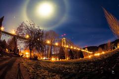 St. Johns Bridge Moon Halo 2 (codyketophotography) Tags: street city longexposure bridge art love nature water clouds oregon canon print poster portland lights picture stjohns 5d dope amazed club16 canonusa 5dmrkii codyketophotography
