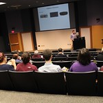 Professor Baker presenting at faculty forum