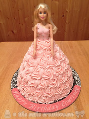Barbie Dress Cake (TheCakeCreative) Tags: cake barbie fondant buttercream barbiecake cakedecorating marshmallowfondant rolledfondant strawberrybuttercream buttercreamicing cakedesign barbiedresscake rosettedress buttercreamrosettes rosettedresscake