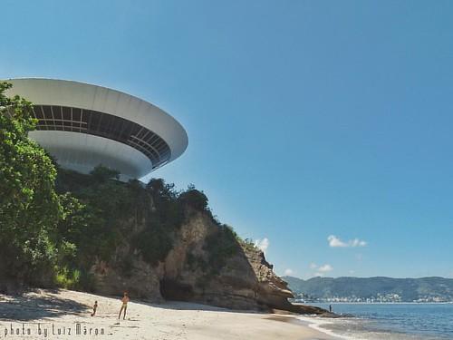 MAC - Museum of Contemporary Art of Niterói, Brasil - viewed from Boa Viagem Beach