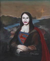 """Super Lisa"" by Rob Stewart (Rob Stewart Art) Tags: woman art girl comics painting nude dc comic gothic fine davinci goth super melissa pop superhero supergirl leonardo benoist renaisance popgoth"
