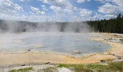 Solitary Geyser, Yellowstone, WY (lotos_leo) Tags: travel summer nature water pool landscape outdoor northamerica wyoming geyser uppergeyserbasin solitarygeyser    crossamerica2015
