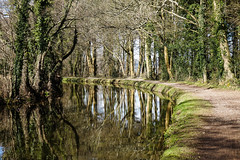 Goytre Wharf (Garethjames181) Tags: trees reflections boats countryside canal spring sony bridges wharf brecon waterway a77 monmouthshire goytre sonyalphaa77