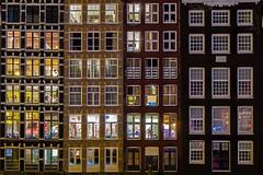 Damrak, Amsterdam (karinavera) Tags: city longexposure travel windows urban holland building window amsterdam architecture night framed damrak nikond5300