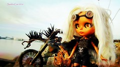 auntie's_daughter_13 (Motor City Dolly) Tags: road girls max art alpaca bike skulls war punk doll post goggles dirt blythe mad custom dolly spikes fury aunty thunderdome apocalyptic entity reroot