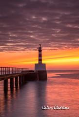 Amble Lighthouse (Calum Gladstone) Tags: lighthouse seascape sunrise northumberland amble leefilters canon6d