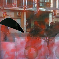 self-portrait with juanjo (maximorgana) Tags: red black window glass balcony dirty smashed kneeling cartagena juanjo mariajose juanjose trashbit