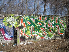 Happy Birthday KGB (Randall 667) Tags: birthday street urban art abandoned island happy graffiti artwork artist arch hiv exploring dump scuba writer nano rhode cumberland bca ohmy kgb tagger