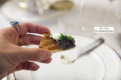 My caviar with creme fraiche on a broiche toast point (thewanderingeater) Tags: nyc manhattan champagne afternoontea uppereastside thelowell thepembrokeroom