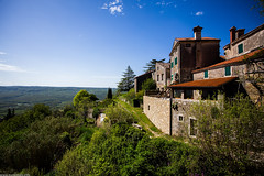 The Spirit of Istria: Groznjan (Ivan Klindi) Tags: old city blue summer sky panorama house tree nature grass architecture canon landscape town spring wide croatia sunny viewpoint 1740mm istria 6d istra groznjan