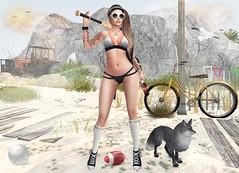 Desperate hooligan ... or sport on a deserted beach? :) (stellarlight_s) Tags: bade sl secondlife tetra friday pekka reign nanika belleepoque maitreya catwa elikatira valekoer ~uber~