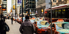 Need a Taxi? (Justin D Charles) Tags: toronto kingst fujixt1