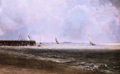 IMG_1591B John Constable. 1776-1837. Yarmouth Jetty. La Jete de Yarmouth. aprs 1823.  Londres Tate Britain. (jean louis mazieres) Tags: greatbritain london museum painting unitedkingdom muse londres museo peintures tatebritain peintres johnconstable grandebretagne