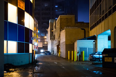 Alley (bryanscott) Tags: ca canada building fog architecture alley downtown winnipeg manitoba backlane