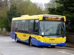 anglianbus 455 - AN61LAN (Zak (Norwich Bus Page)) Tags: 455 2016 anglianbus an61lan scaniak230ubomnilink routeab87