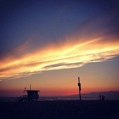 And Rest (thejcgerm) Tags: ocean california venice sunset beach losangeles dusk lifeguard pacificocean beaches venicebeach lifeguardtower