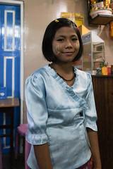 Girl with thanaka on face (Michael Chow (HK)) Tags: burma myanmar mm shan kalaw myanmarburma
