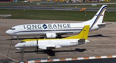 Long Range 737 (Tangoman11) Tags: aircraft boeing saab 737 340 birminghamairport b737 737400 longrange bhx b734 hatab gainjet sxatf