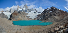 Mt. Fitz Roy (Pavla Frysova) Tags: park travel panorama patagonia lake snow mountains argentina roy america trekking landscape los rocks hiking south el national glaciers daytime fitz chalten glaciares