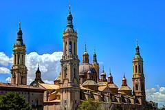 El Pilar (JVicenteRD) Tags: torre iglesia zaragoza cielo aragon clasico baslica elpilar jvicenterd