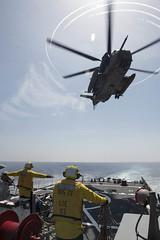 160406-N-FQ994-221 (CNE CNA C6F) Tags: sailor usnavy mediterraneansea ch53 israeliairforce ussporterddg78 exercisenobledina2016