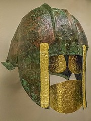 Ancient Greece. Funerary Bronze Helmet, 540-530 BCE (mike catalonian) Tags: bronze helmet ancientgreece vicenturybc