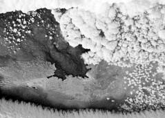 wierd snow (jdborgeson) Tags: winter bw white snow black cold ice frost minimal minerals yellowstone geyser minimalist