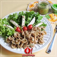 Salada de Macarro Integral com Pesto de Manjerico (Almanaque Culinrio) Tags: food recipe comida gastronomia culinria receita
