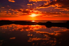 "Than God said ""Let There Be Light"" (Lior. L) Tags: light sunset sea reflection nature wow god brilliant lettherebelight godsaid"