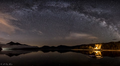 Milky way over Walchensee (MC-80) Tags: panorama lake alps reflections germany way stars bayern deutschland bavaria see nacht berge alpen milky spiegelung starry walchensee nachtaufnahme milkyway oberland milchstrasse sternenhimmel bayerisches milchstrase