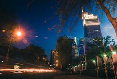 Daybreak. (Lazy Lounger) Tags: street city longexposure blue light sky urban skyline night skyscraper landscape cityscape nightscape bluesky vietnam lighttrails bluehour saigon hochiminhcity daybreak urbanscape urbex vietcombanktower