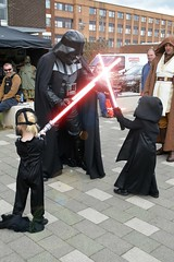 Battle of the Sith Lords (masimage) Tags: red star starwars costume cosplay darth wars vader sith lords kylo stokecontrent stokecontrent2016