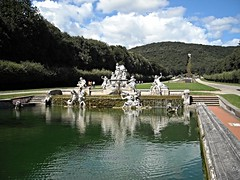 "Fountain of Cereres (""LAND""=Fertility) with medallion of ""Trinacria"" (=Sicily) and the Sicilian rivers Simeto and Oreto - Sculptor Gaetano Salomone (1783) - Royal Gardens of Caserta (* Karl *) Tags: fountain sicily fontana sicilia trinacria caserta gaetanosalomone"