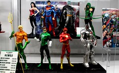 2015-JL of A ArtFx Statues at SDCC-02 (David Cummings62) Tags: california ca comics movie sandiego flash statues superman calif wonderwoman batman movies dccomics cyborg greenlantern comiccon con cummings justiceleagueofamerica aquaman jla greenarrow artfx davidcummings davecummings