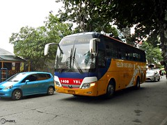 Yellow Bus Line 1408 (Monkey D. Luffy 2) Tags: road city bus public photography photo coach nikon philippines transport vehicles transportation coolpix vehicle society davao coaches philippine enthusiasts yutong yuchai philbes zk6107ha