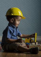 ALDITO (fchapelliere) Tags: boy baby hat yellow toys construction young bebe worker melissadoug studio101