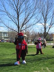 Mascots (jamica1) Tags: park canada bc ben okanagan columbia lee british kelowna rutland mascots bigwhite