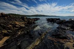 The Rocky Shore (Paul Hollins) Tags: ocean seascape rocks australia newsouthwales aus sealrocks watermovement nikon1635mmf4 nikond750