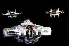 Phoenix Squadron (BlueShift 12) Tags: phoenix starwars lego space ghost pheonix starfighter awing phoenixsquadron