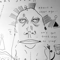 (Krillinator) Tags: original people blackandwhite monochrome face illustration pen writing person sketch photo words different faces personal random drawing circles being text shapes surreal first style line created direction whitebackground filter strong features freehand outlines creatures quick facial edit bold loose foreground biro imaginative iphone