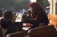 Tea in Tashkent (travelnotes) Tags: travel people photography tea headscarf oldwoman michel uzbekistan centralasia teahouse sunnyday tashkent youngboy uzbek travelphotos travelnotes travelpics warmclothing michelguntern