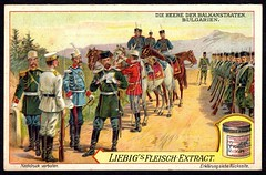 Liebig Tradecard S983 - Bulgarian Soldiers, 1910 (cigcardpix) Tags: vintage advertising soldier ephemera uniforms liebig chromo tradecards